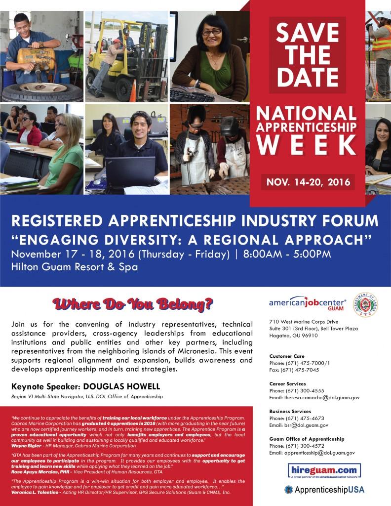 Guam DOL Apprenticeship Week Flyer