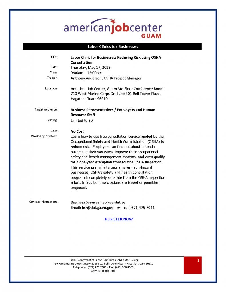 Reducing Risk using OSHA Consultation 2018.05.17_Revision 1