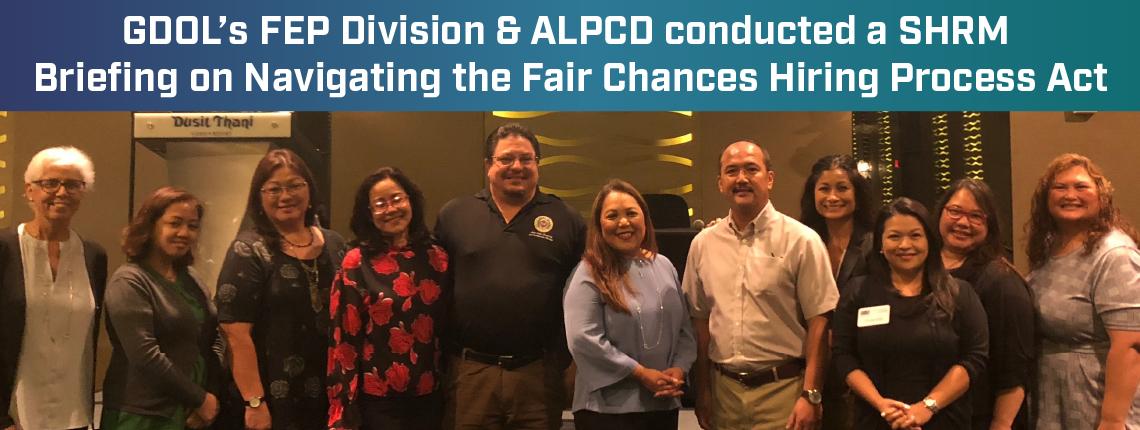 GDOL FEP & ALPCD SHRM Fair Chances Hiring Process Act Briefing