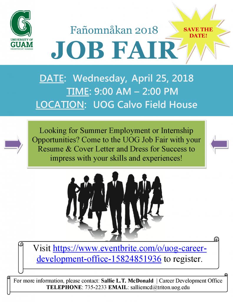 UOG 2018 Job Fair Job Seeker Announcement 2018.04.25