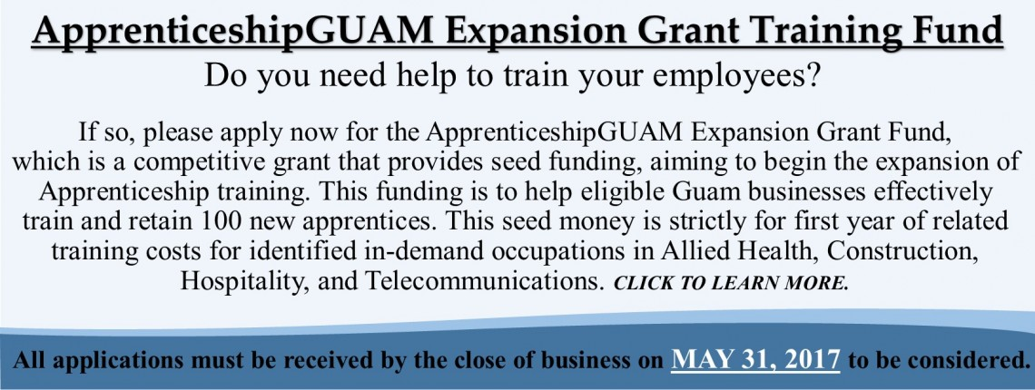 ApprenticeshipGUAM Expansion Grant Training Fund