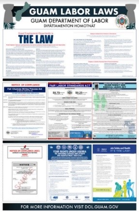 For information on GUAM LABOR LAW bundle poster. Please call 300-4544/5 or 475-7037.