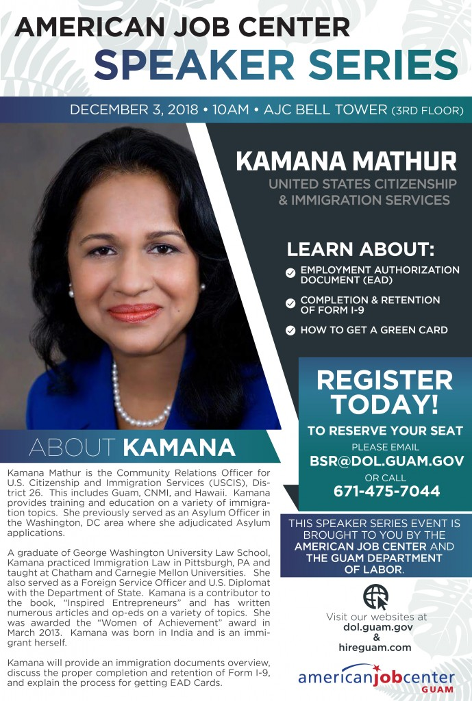 AJC Speaker Series - Kamana Mathur Flyer