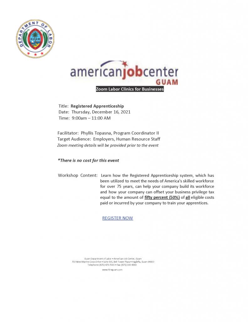 Registered Apprenticeship Flyer